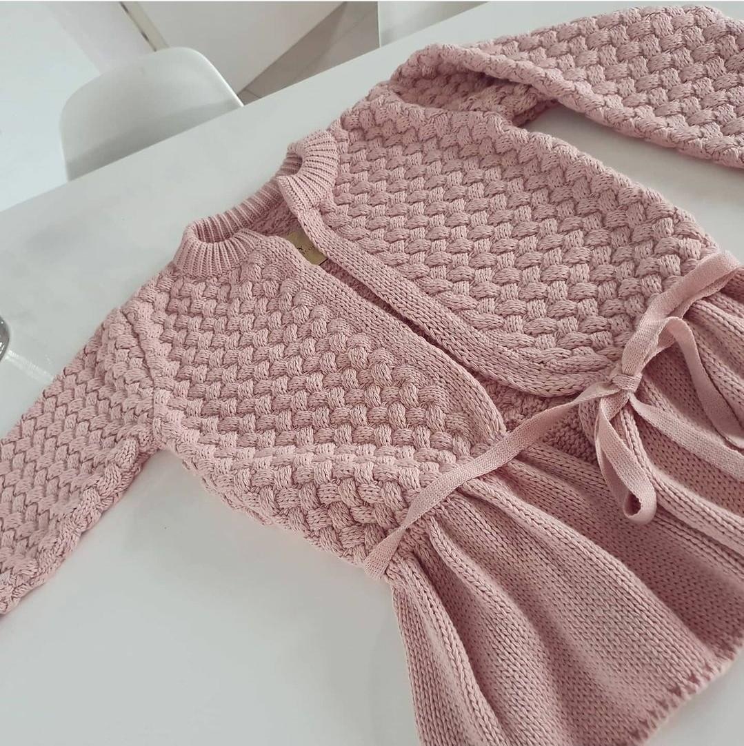 Rüschenpullover Powder Pink