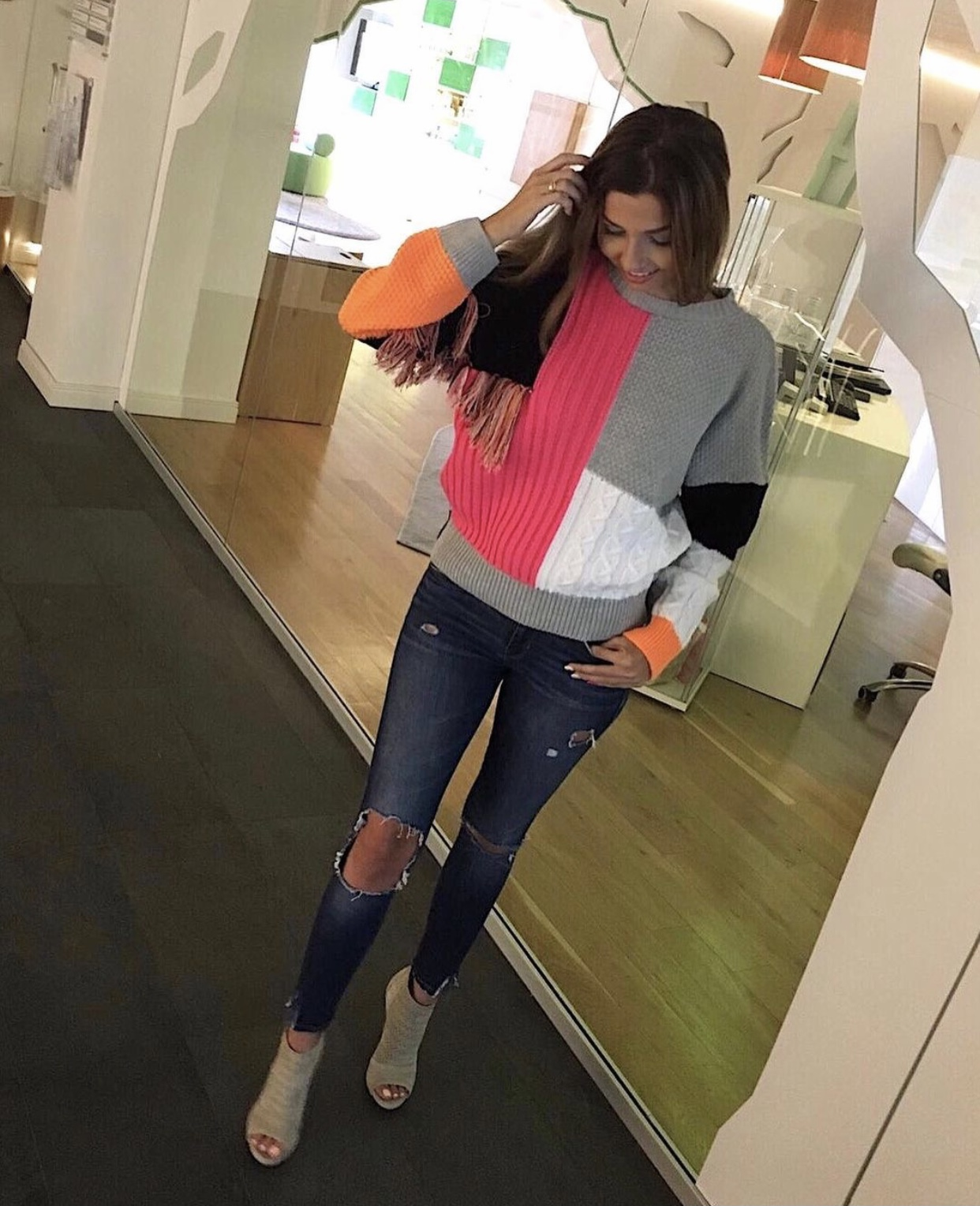 Pullover Indian Neon