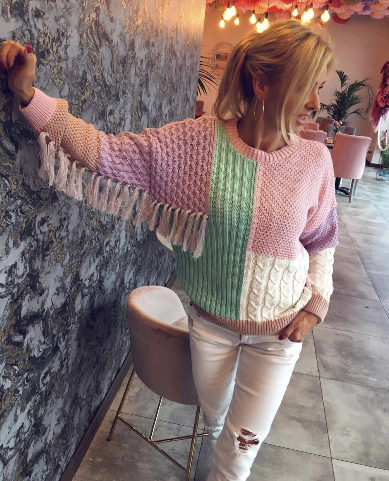 Pullover Indian Pastel
